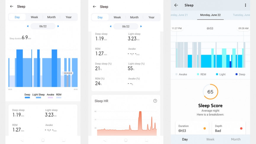 Realme Watch sleep tracking vs withings