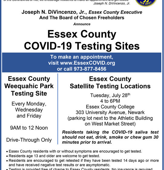 Essex County COVID-19 Testing Sites – The Positive Community