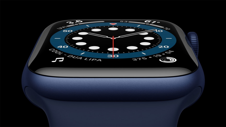 Apple Watch Series 6 in blu e