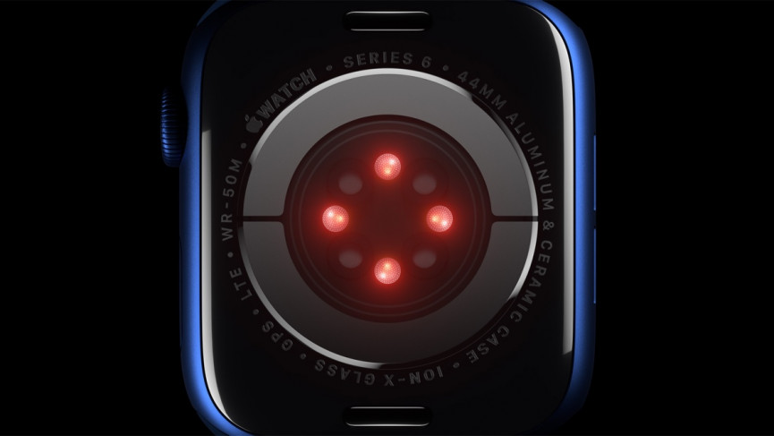 Apple Watch Series 6 SpO2 sensor