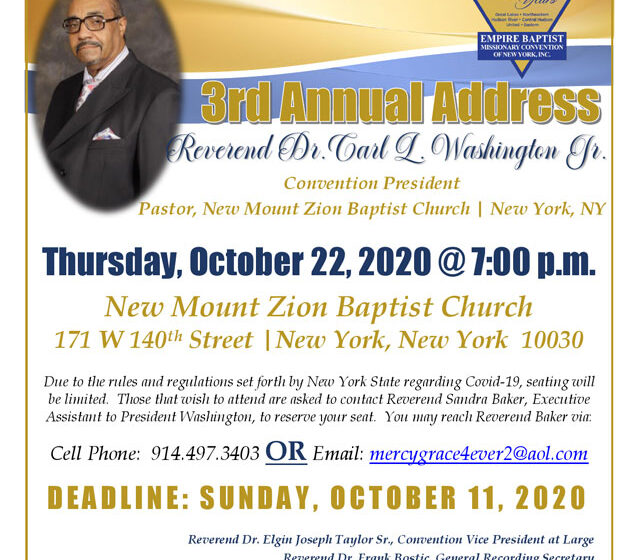 Empire Baptist Missionary Convention of New York, Inc – The Positive Community