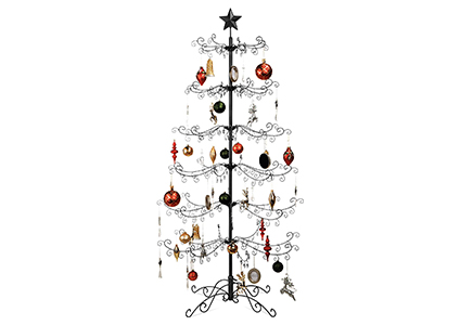 wrought iron ornament display
