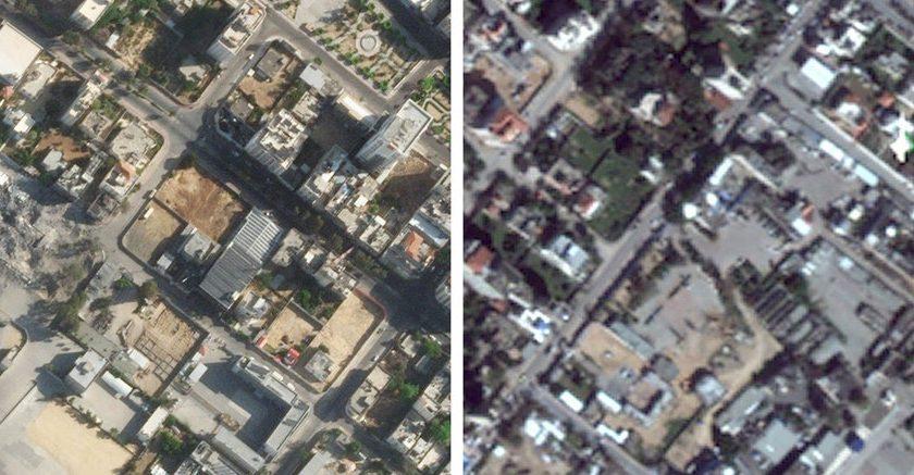 Blurry Satellite Images of Palestine and Israel Make Rebuilding Harder