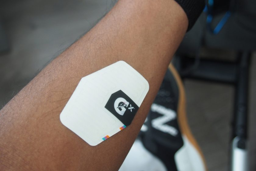 We tracked hydration with the Gatorade Gx smart patch
